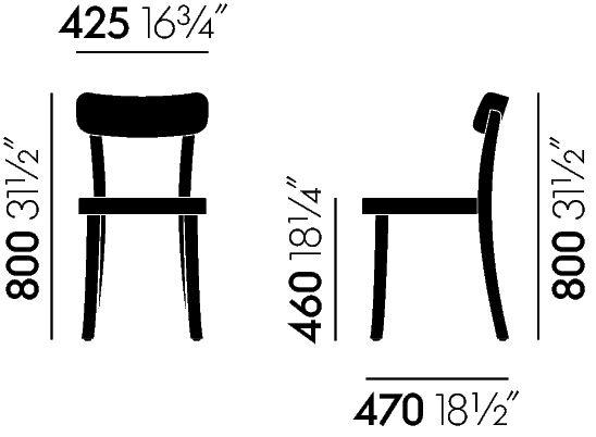 Vitra Basel Chair Maße