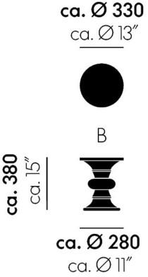 Vitra Stool B Maße