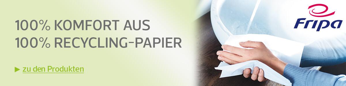 Fripa - 100% Komfort aus 100% Recycling-Papier