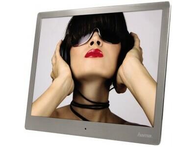 Bilderrahmen Digital Slim Steel 10 25,4 cm schwarz mit Musik und Video