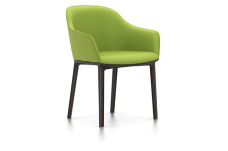 Vitra Softshell Chair Vierbein-Untergestell chocolate Plano avocado