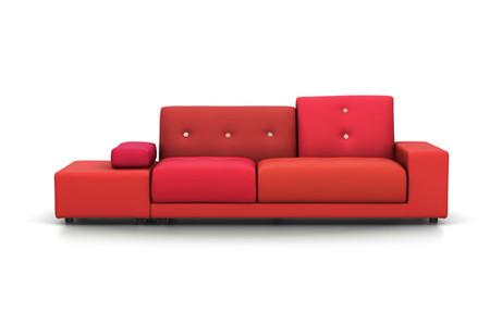 Vitra Sofa Polder AL rechts:sitzend links rot