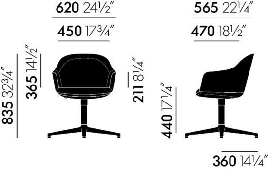 Vitra Softshell Chair Maße