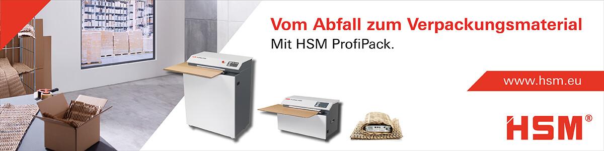 Vom Abfall zum Verpackungsmaterial. Mit HSM ProfiPack.