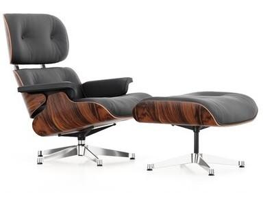 Vitra Lounge Chair & Ottoman Santos Palisander