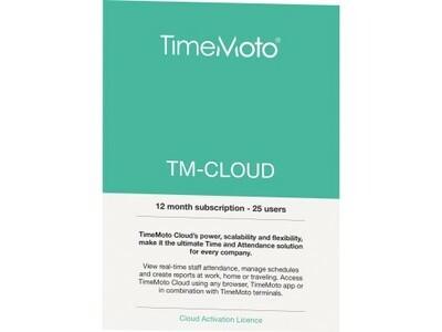 Cloud TimeMoto Plus 25User 1Jahr ZEITERFASSUNG