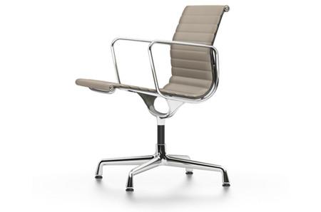 Vitra Alu Chair EA 108 Leder Sand
