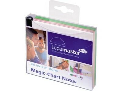 Magicchart Lega 1595 Notes 10x10cm sort IERT, STATISCHE AUFLADUNG, BESCHREIBBAR,