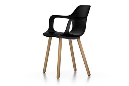 Vitra Hal Armchair Wood UG Eiche schwarz