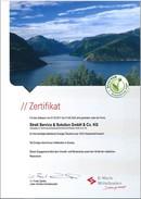 Zertifikat Ökostrom