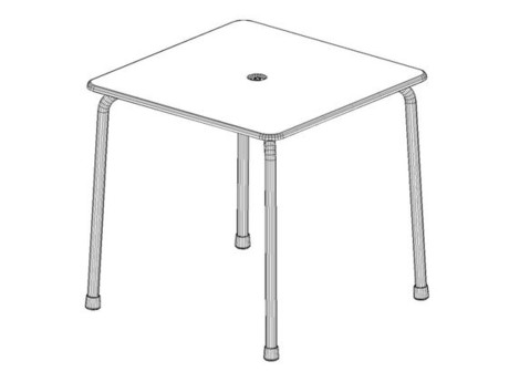Vitra Davy Table CAD2
