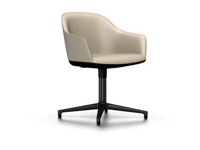 Vitra Softshell Chair Viersternfuß Bezugsmaterial Leder