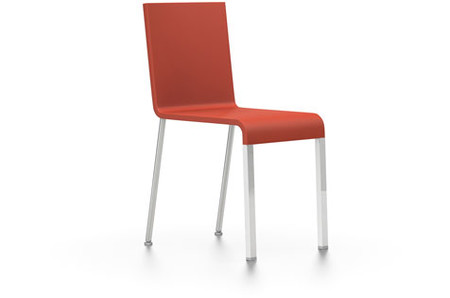 Vitra .03 nicht stapelbar UG glanzchrom poppy red