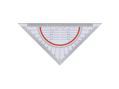 Geometriedreieck 1586 16cm flexibel Facette Kunststoff transparent