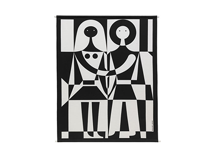 Vitra Environmental Wall Hanging - Black and White
