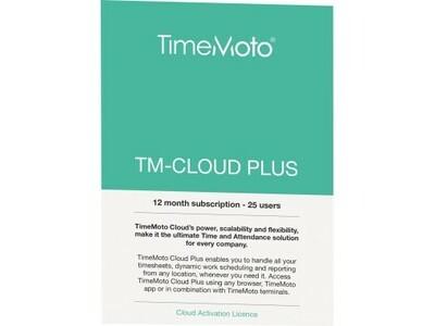 Cloud TimeMoto Plus 25User 1Jahr