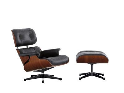 Vitra Lounge Chair & Ottoman Mahagoni