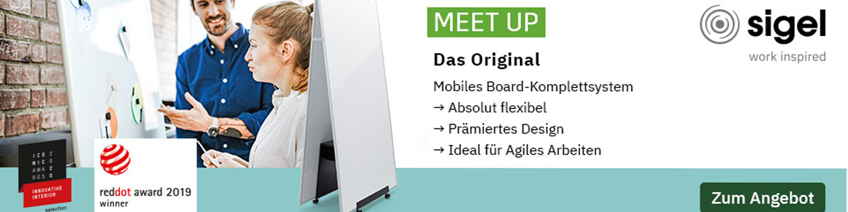 SIGEL Meet up Boardsystem - Mobile Whiteboards & Pinnwände