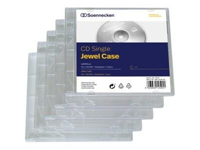 CD/DVD Hardbox  für 1 CD transparent