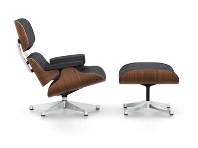Vitra Lounge Chair & Ottoman Nussbaum