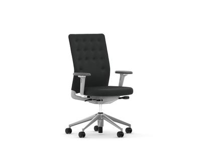 Vitra ID Chair ID Trim mit Armlehnen Stoffbezug Plano nero