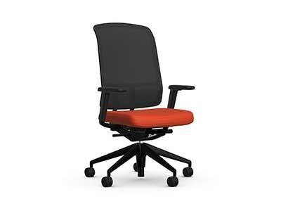 Vitra AM Chair Stoffbezug Plano mit Netzrücken