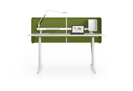 Vitra Tyde Single Table UG soft light Tischplatte softlight Screen grün