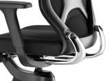 Wilkhahn IN-184-7-Bezug-Formstrick-doppellagig-schwarz-Gestell-aluminium-poliert Gestelloberflächen hochglanz poliert