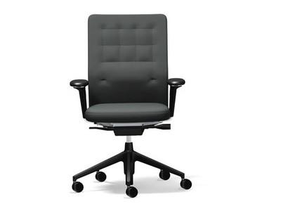 Vitra ID Chair ID Trim 3D-Armlehnen Stoffbezug Plano nero