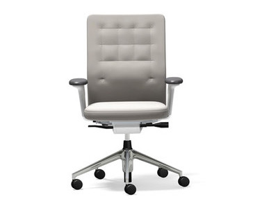 Vitra ID Chair ID Trim 2D-Armlehnen Stoffbezug Plano Stone