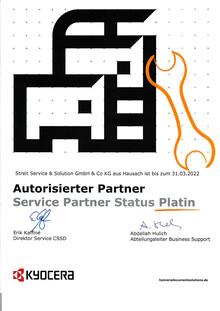 Kyocera ServicePartner  Platin 2021