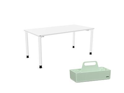 Duo Schreibtisch und Toolbox