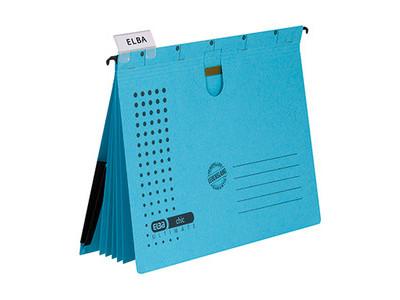 Infotasche Holtz 1130303 A4 blau MAGNETISCH