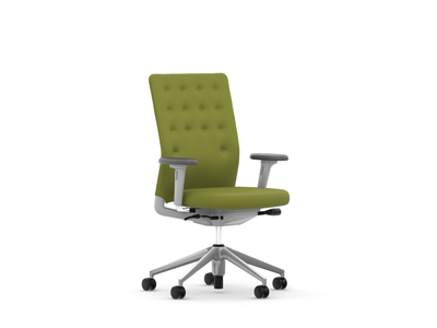 Vitra ID Chair ID Trim 3D-Armlehnen Stoffbezug Plano avocado