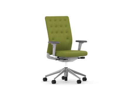 Vitra ID Chair ID Trim mit 2D AL avocado RF  soft grey UG poliert